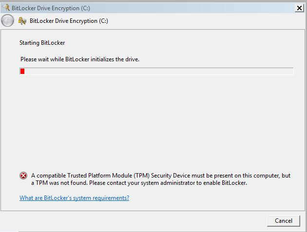 Starting BitLocker Without TPM