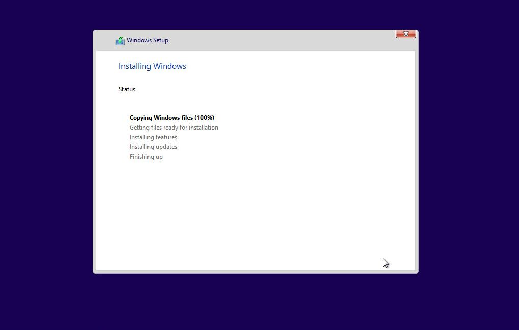 Windows 10 - Installing Windows