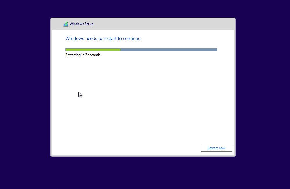 Windows 10 - Reboot