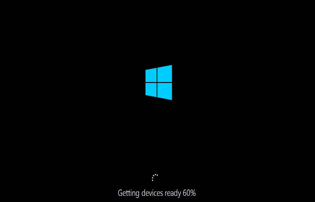 Windows 10 First Boot