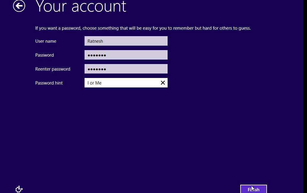 Windows 10 - Create Account