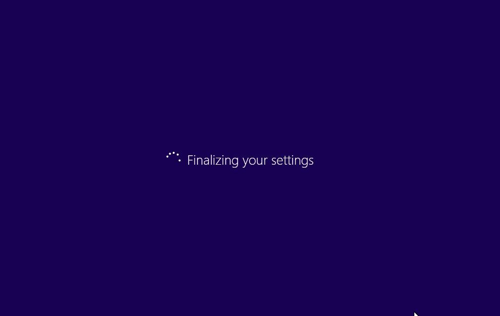 Windows 10 - Finalizing your setting