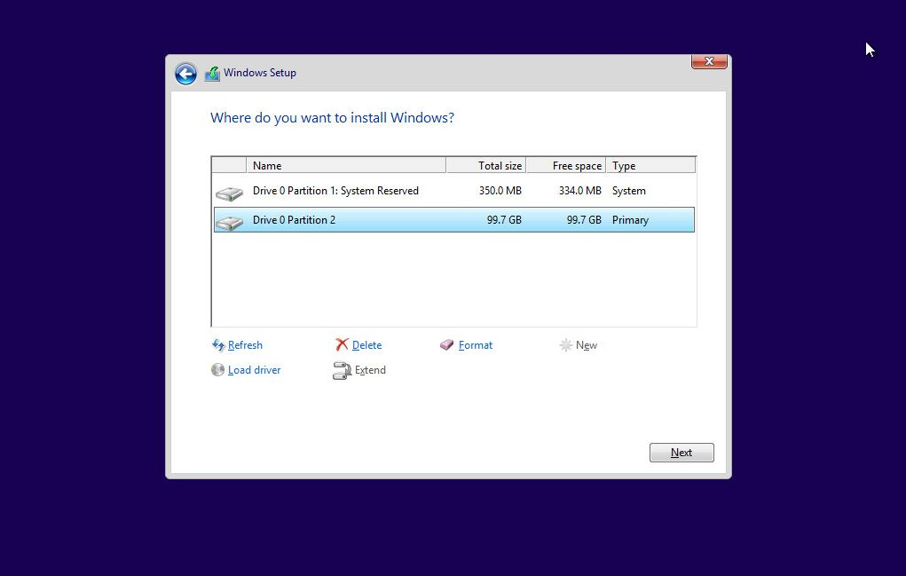 Windows 10 Boot Disk and System Partition