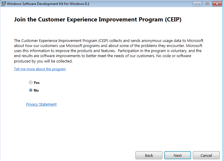Customer Experience Improvement Program