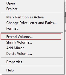 Volume-Extend-Shrink-Option